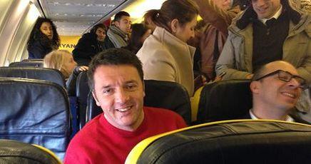 """Renzi in visita a Lampedusa: """"Qui comincia la mia storia da segretario""""$"""